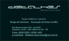 Decoração de interiores.   Rua Manoel Coelho 600 - loja 56/ 57 Shopping - Centro - São Caetano - SP 09510-111