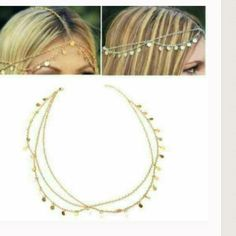 LAST ONE! Head jewelry Gold tone keyword: boho Boutique Jewelry Necklaces
