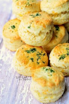 These little cheesy pieces of bread heaven are perfect to serve with dinner or for breakfast with some butter. Three cheese scones are nice and soft in the middle and full of cheesy flavors.
