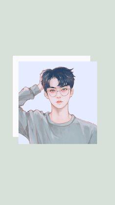 Exo Anime, Anime Guys, Anime Art, Sehun Cute, Exo Fan Art, Exo Lockscreen, K Wallpaper, Kpop Fanart, Boy Art