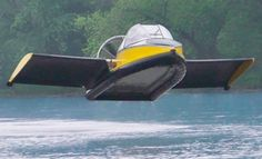 All hovercraft can hover, this one actually flies.
