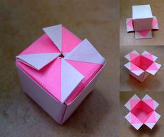 Origami for Everyone – From Beginner to Advanced – DIY Fan Box Origami, Origami Box With Lid, Origami Envelope, Origami And Kirigami, Origami Paper Art, Modular Origami, Origami Flowers, Diy Paper, Paper Flowers