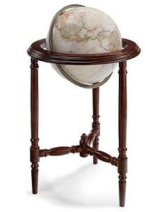 A hands-on and sophisticated experience worthy of any home office or den, the Fremont Globe features historic parchment-style coloring and a rich mahogany floor stand and serves as an interesting conversation piece.