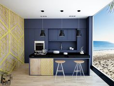 Kitchen on the private beach. on Behance