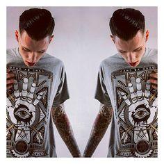 """Teethed Glory"" Tee available at www.crmc-clothing.co.uk Models - @ryan_davieshall Photography - @jt14photography #ordoabchao #grey #rings #illuminati #illumination #altfashion #alternative #instafashion #fashionstatement #fashiongram #fashionista #instastyle #stylegram #fashionoftheday #menwithtattoos #grungefashion #pop #styles #style #alternativeguy #alternativeboy #alternativegirl #alternativeteen #instagrammers #instafamous #igers"
