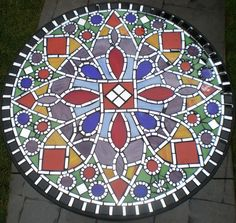 Mosaic table top.