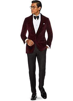 Jacket_Burgundy_Plain_Manhattan_C935