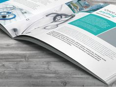 Medical / Healthcare Profile Brochure by Kiran Qureshi, via Behance
