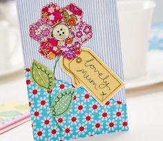 Tarjeta del Día de Madre de la Flor Magnífica cosido