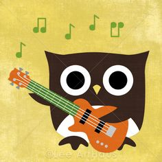 bass playing owl?! i want it!