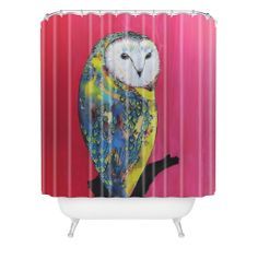 Clara Nilles Owl On Lipstick Shower Curtain | DENY Designs Home Accessories