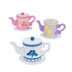 Teapot Treat Holder Craft Kit - OrientalTrading.com, favor and activity in one