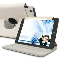 360 Degree Rotating Leather Case For iPad Mini ( White ) Ipad Mini Accessories, Go Shopping, Ipad Case, Leather Case, Mobile Phones, Blue, Ebay, Leather Pencil Case, Leather Pouch