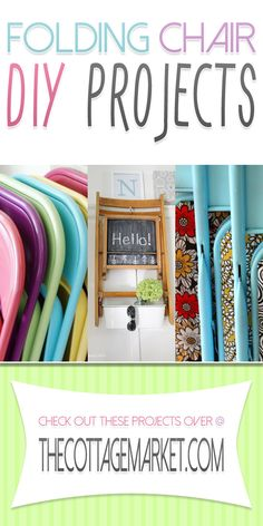 5 ways to upcycle a folding chair - The Cottage Market