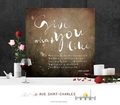 Give what you want.... by sylvie on Etsy