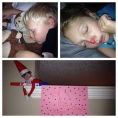 elf on the shelf photos of kids sleeping Elf Magic, Elf On The Self, Buddy The Elf, Jingle All The Way, Kids Sleep, Christmas Traditions, Holiday Fun, Christmas Holidays, Activities For Kids