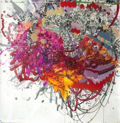 Cauldron 6 , Acrylic, Sumi Ink, and Silkscreen on Paper, 60 x 60 in. unframed  SOLD