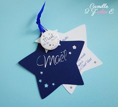 faire-part étoile magnet bleu nuit blanc 3