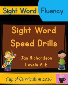 Building sight word fluency just became easier! Get your students to read sight words with fluency in 3 seconds or less. Great for center time, homework or assessment. This product is a companion to my series Sight Word Practice Pages {Jan Richardson Levels A-E}.
