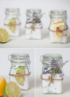 With the rise in popularity of all things environmentally friendly, why not extend the trend to your wedding give out one of these eco-chic wedding favors? gift homemade 11 Fresh Wedding Favors For The Eco-Chic Couple - Wilkie Jar Gifts, Food Gifts, Infused Sugar, Wedding Favors For Guests, Wedding Gifts, Wedding Souvenir, Craft Wedding, Food Wedding Favors, Diy Candles