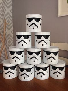 Stormtrooper Tin Can Alley Star Wars themed fun day