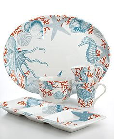 222 Fifth Serveware, Coastal Life Collection