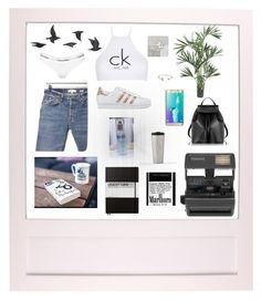 """Set #31"" by jeongmina on Polyvore featuring Jayson Home, Calvin Klein, Nearly Natural, Impossible, RE/DONE, adidas Originals, Samsung, Le Parmentier, Leuchtturm1917 and Jeweliq"