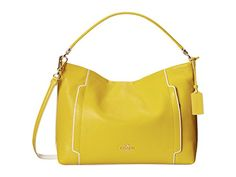 Women's Shoulder Bags - Coach Colorblack Scout Leather Hobo Yellow Chalk 34994 ** To view further for this item, visit the image link.