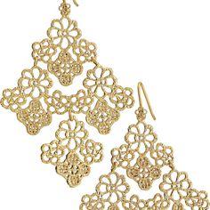 Chantilly lace earrings $49 on www.stelladot.com/stem