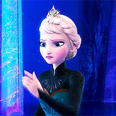 """Disney's FROZEN Elsa """"I'm never going back'' (gif) I'd like to take a moment to thank Pinterest for becoming gif friendly."""