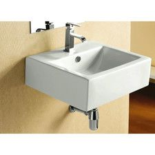 Ceramica Wall Mount Bathroom Sink
