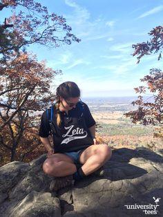 explore the outdoors 🍂 | Zeta Tau Alpha | Made by University Tees | universitytees.com