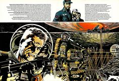 Jim Steranko ~ Outlander. One of the 3 best artists in comics ever, on his A-Game. Sean Connery starred in the movie of this.  Do NOT watch ...