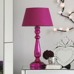 a pink lamp
