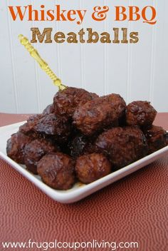 Whiskey & BBQ Meatballs Recipe – Football Gameday Appetizers #recipe #football #bowlgame