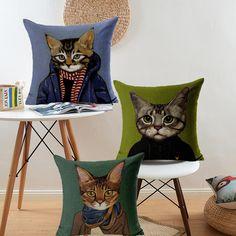 Free shipping Creative Cartoon Cushion Cover Home Decor Meow Star People,Mr Dog Chair Cushion Decorative Sofa Car Pillow Cover
