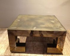 Vintage John Rosselli Coffee Table with Antiqued Mirror