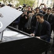 A man plays piano near the Bataclan theater in Paris on November the day after a series of attacks on the city resulted in the deaths of at least 120 individuals. At least 80 people died inside the Bataclan. Paris Attack, Plays, Theater, November, Forget, Death, Around The Worlds, City, People