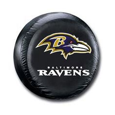 Baltimore Ravens Black Tire Cover - Size Large--(Package of Fun Gift for any occasion great products shipped from the USA Jeep Tire Cover, Nfl Baltimore Ravens, Spare Tire Covers, Futon Covers, Nfl Gear, Best Football Team, Nfl Fans, Vinyl Fabric, National League