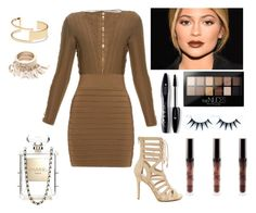 """Kylie Jenner Red Carpet Look"" by oken-demir on Polyvore featuring Balmain, Chanel, Sole Society, Maybelline, Lancôme, women's clothing, women, female, woman and misses"