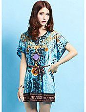 Dame sommer Leopard Dot Print Batwing silkekj... – DKK kr. 72