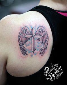wings cross tattoo | Cross with Wings