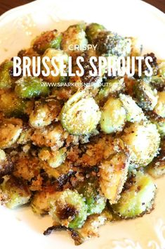 Turn ANYONE into a Brussels Sprouts lover with these Crispy Brussels Sprouts.  Trust me these are AMAZING ... and a perfect side for dinner tonight! . #brusselsprouts #sprouts #side #sidedish #sides #sparklesnsprouts