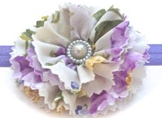 Headband or Hair Clip Purple Floral Made to Match by 8thDayStudio