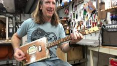 3 String Thursday with Mike Snowden King B Cigar Box Guitar Cigar Box Guitar, Cigars, Thursday, King, Smoking, Cigar