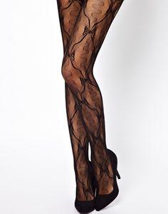 Leg Avenue Bow Lace Pantyhose