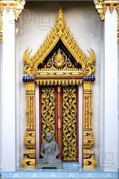 #Doorway Into Thai Buddhism. Malaysian Temple.