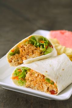 Three Meals One Crock: Buffalo Chicken Wraps