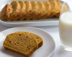 This pumpkin gingerbread is completely delicious. has a lovely moist texture, and a fantastic zingy ginger hit. Only 172 calories per slice, low in fat too!