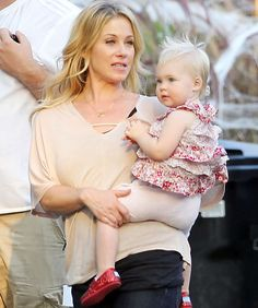 It's Christina Applegate! -- Sadie Grace (who is almost 2) is just as pretty as her mom, Up All Night star and former Married With Children actress Christina Applegate.